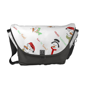Happy Snowman Courier Bags