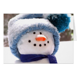 Happy Snowman Face - Thank You for Christmas Gift Card