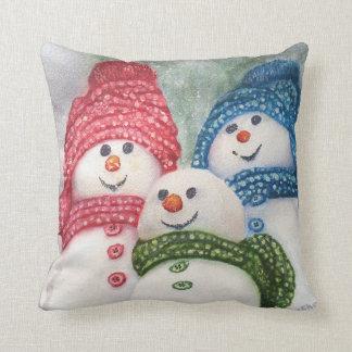 HAPPY SNOWMAN FAMILY CUSHION
