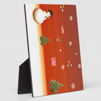 Happy snowman for Christmas Display Plaques