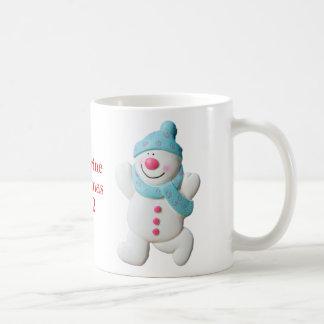 Happy Snowman girls name christmas mug, gift Basic White Mug