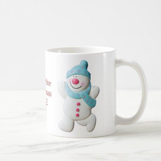 Happy Snowman girls name christmas mug, gift Coffee Mug ...