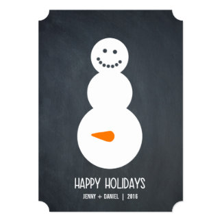 Happy Snowman Holiday Card