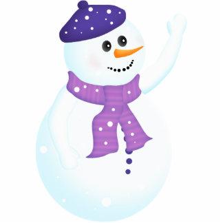 Happy Snowman Holiday Ornament Photo Cutout