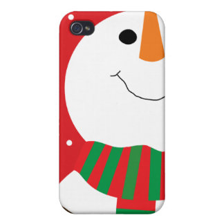 Happy Snowman iPhone 4 Cover
