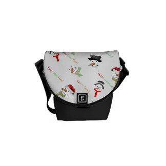 Happy Snowman Messenger Bag