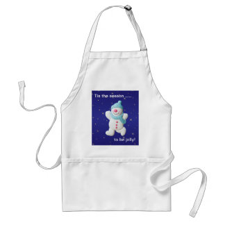 Happy snowman novelty christmas apron gift