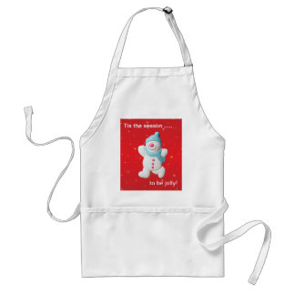 Happy snowman novelty christmas apron, gift