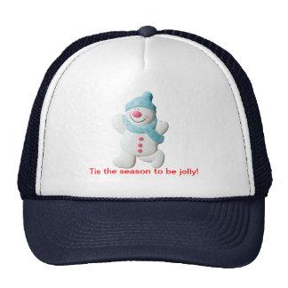 Happy snowman novelty christmas holiday hat