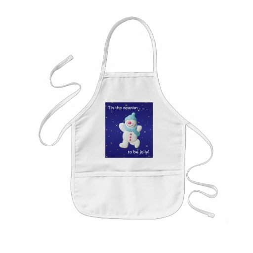 Happy snowman novelty christmas kids apron