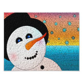 Happy Snowman Photo