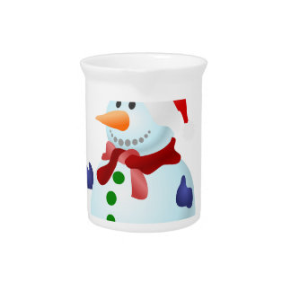 Happy Snowman Pitcher