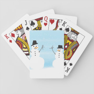 Happy Snowmen Playing Cards