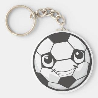 Happy Soccer Ball Smiling Key Chain