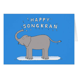 Happy Songkran Thai New Year April 13th Card