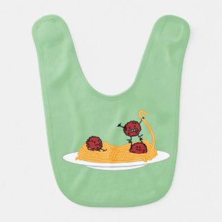 Happy Spaghetti and Meatballs Bibs