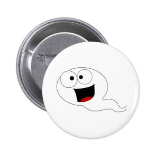 Happy Sperm 6 Cm Round Badge