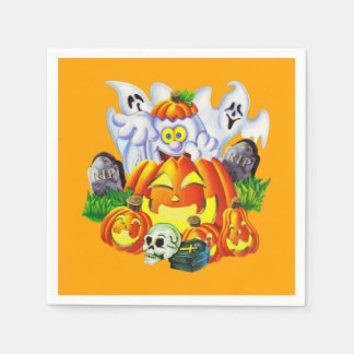 Happy Spooky Halloween Disposable Serviettes