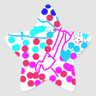 Happy Spotty Abstract Sticker