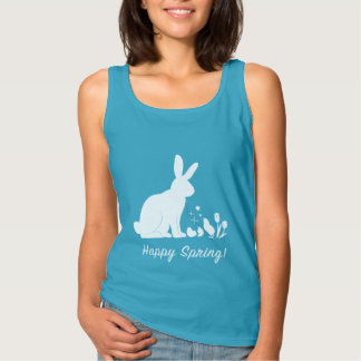 Happy Spring: Bunny, Chick and Tulips Singlet