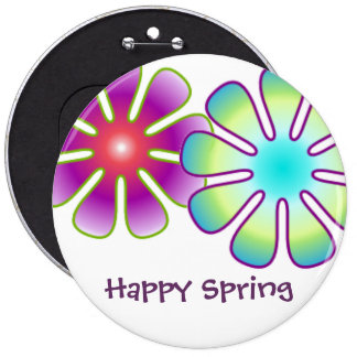 Happy Spring button