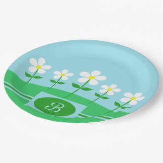 Happy Spring Daisies Paper Plate
