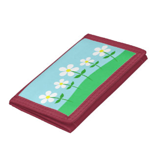 Happy Spring Daisies Trifold Wallet