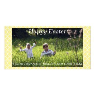 Happy Spring/Easter Photo Card Yellow