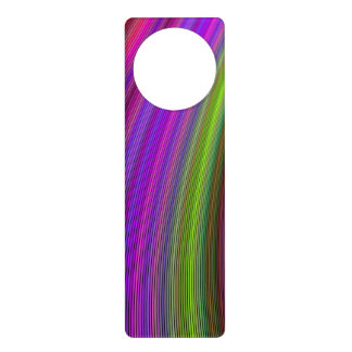 Happy spring stripes door knob hangers