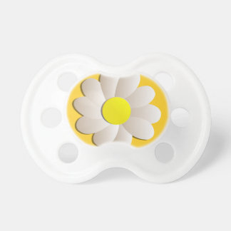HAPPY SPRING TIME DAISY YELLOW  FRESH FLOWER PACIFIERS