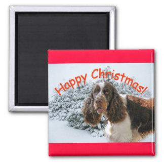 Happy Springer Xmas! Square Magnet