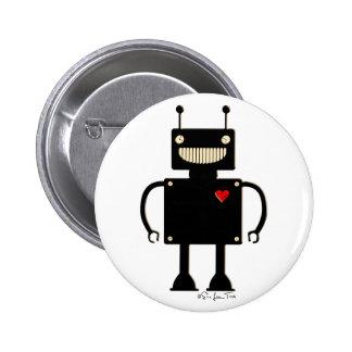 Happy Square Robot 1 6 Cm Round Badge