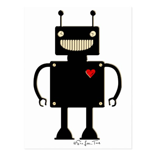 Happy Square Robot 1 Post Card
