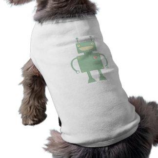 Happy Square Robot 2 Sleeveless Dog Shirt