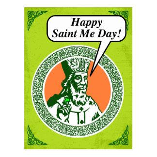 """Happy St. Me Day"" says St. Patrick Postcard"