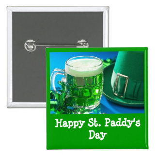 Happy St Paddy s Day Green Beer Pin