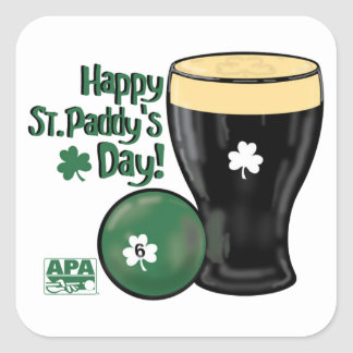 Happy St Paddy s Day Square Sticker