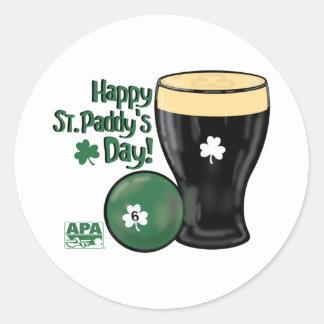 Happy St Paddy s Day Round Stickers