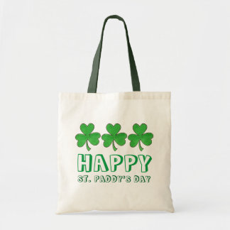 Happy St. Paddy's Day Saint Patrick's Shamrock Bag