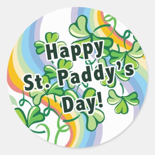 Happy St. Paddy's Day Round Sticker