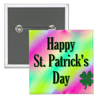 Happy St. Patrick's Day Buttons