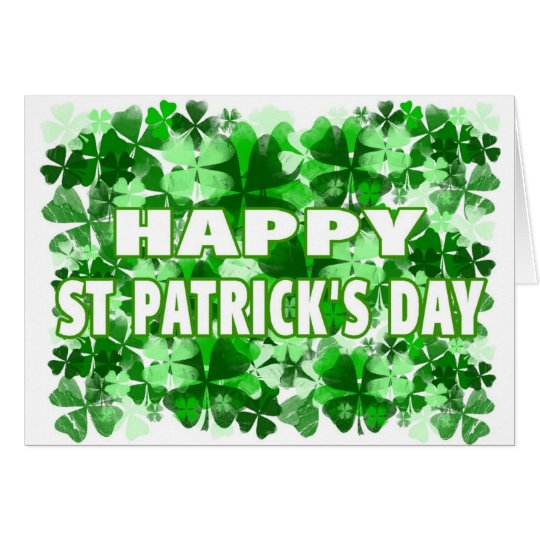 Happy St. Patrick's Day Clover Field Card