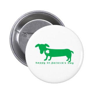 Happy St Patrick s Day Dachshund Pins