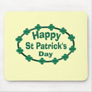 Happy St Patrick s Day Mouse Pad