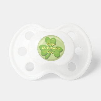 Happy St. Patrick´s Day Shamrock Baby Pacifier