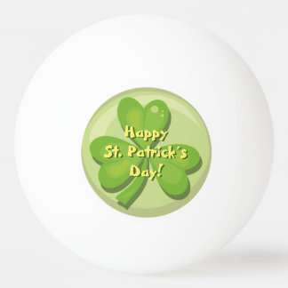 Happy St. Patrick´s Day Shamrock Ping Pong Ball