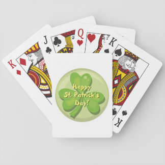 Happy St. Patrick´s Day Shamrock Playing Cards