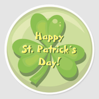Happy St. Patrick´s Day Shamrock Round Sticker