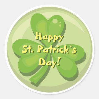 Happy St. Patrick´s Day Shamrock Round Sticker
