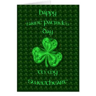 Happy St. Patrick's Day Sweetheart Shamrock Card